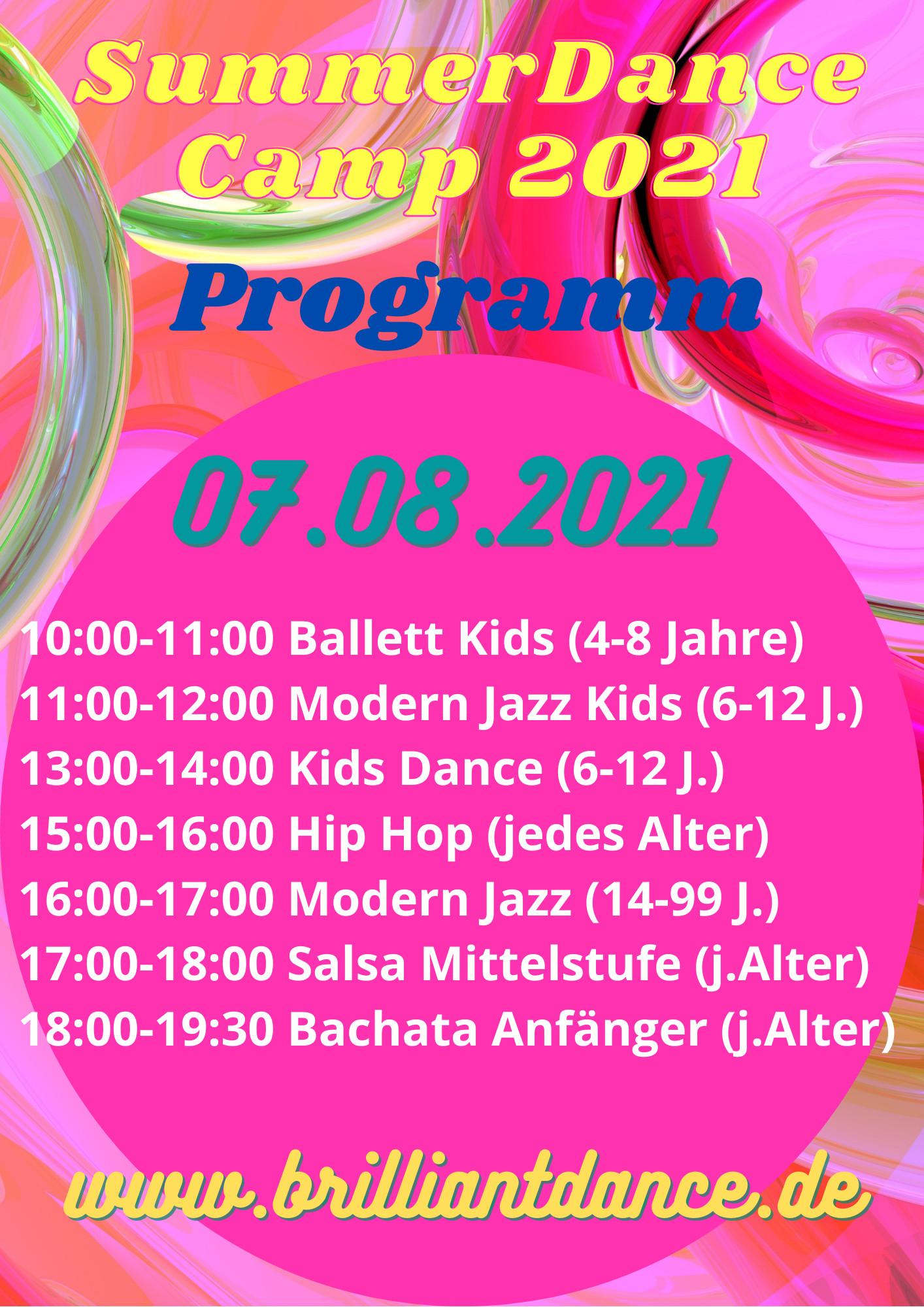 Flyer Summer Dance Camp 2021